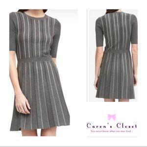 Banana Republic Grey Striped Knit Dress